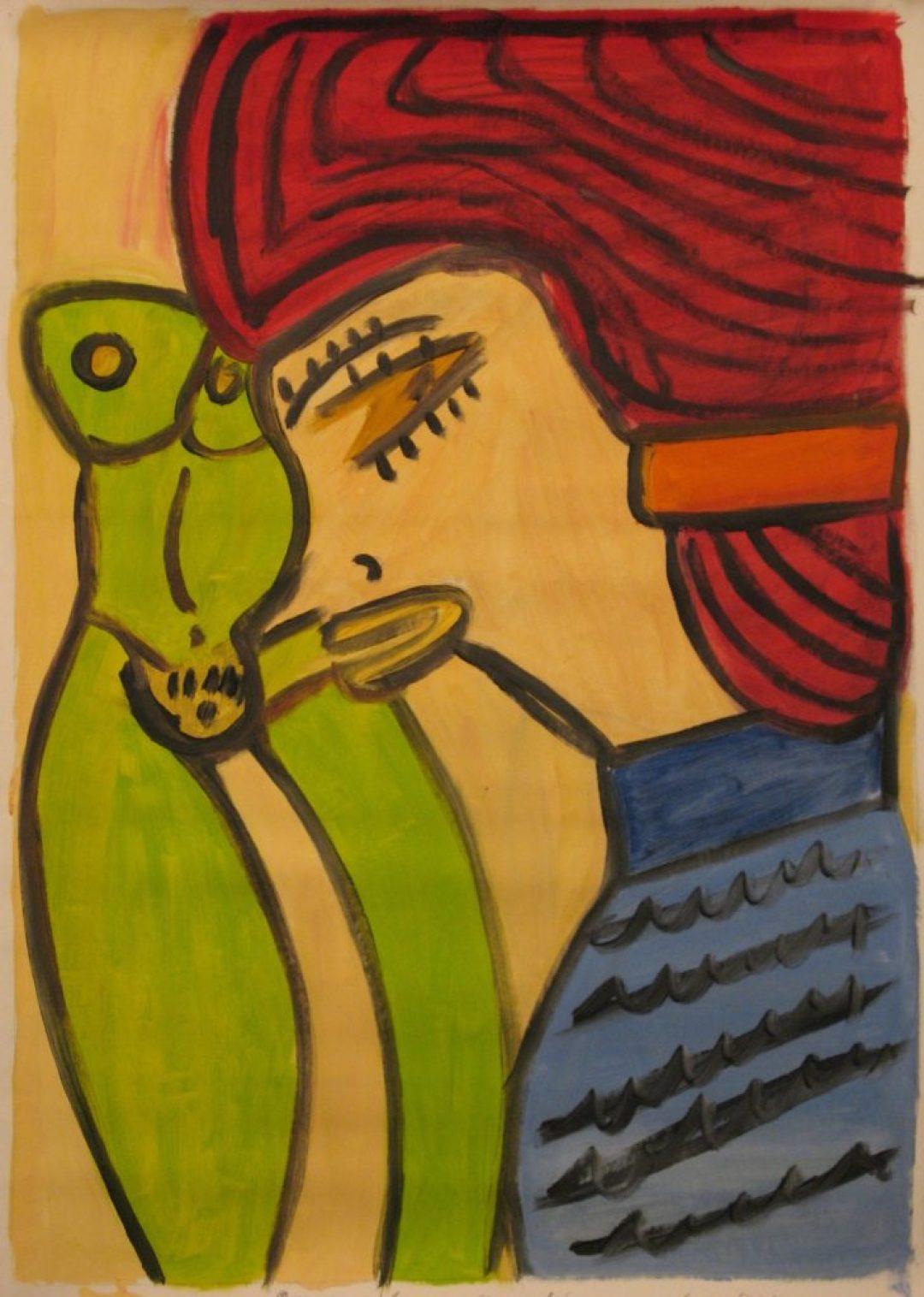 Hugues Joly, sans titre, nd, peinture à l'huile sur toile, 100 x 10--70 cm