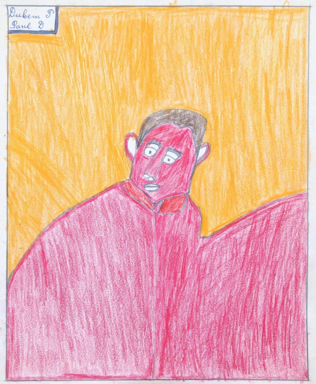 Paul Duhem, sans titre, 1991, crayons de couleur sur papier, 36,8 x 30 cm