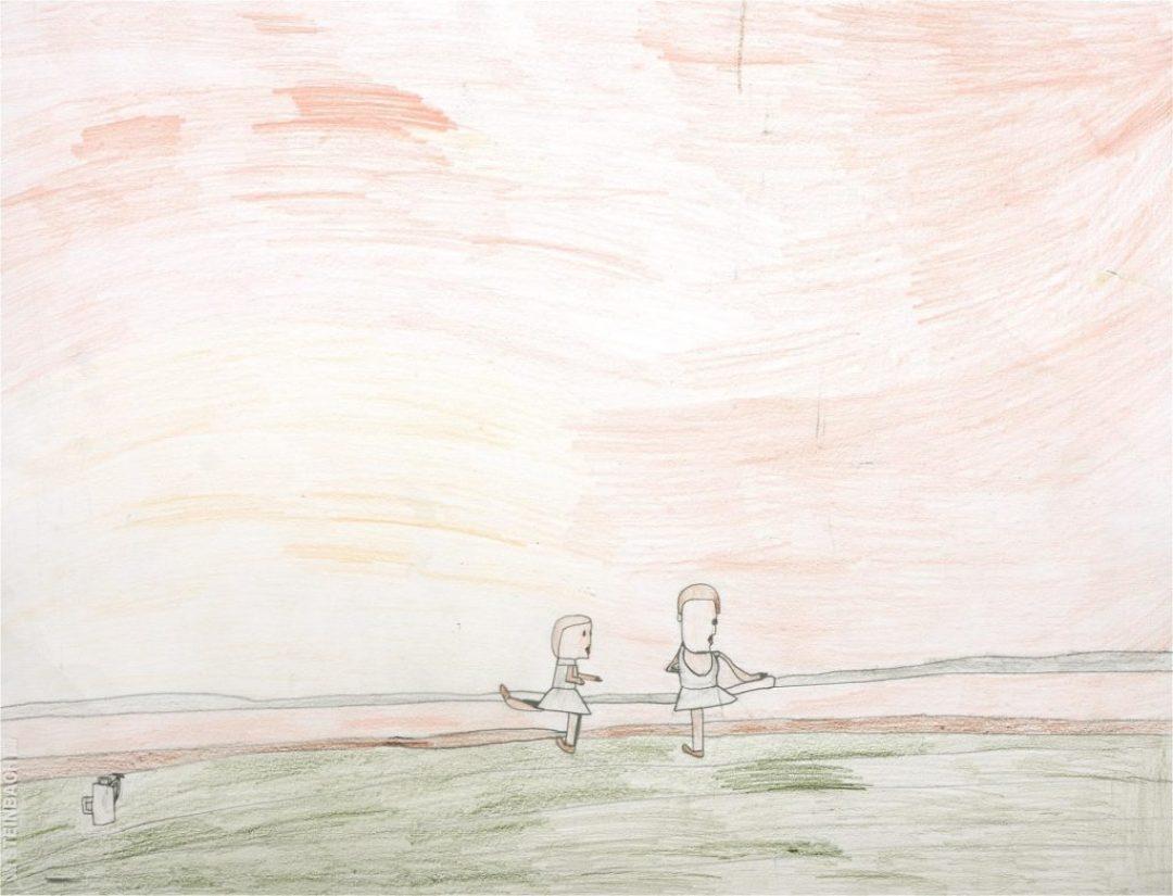 Alexis Lippstreu, Sans titre, 2008, crayons de couleurs sur papier, 55 x 73 cm