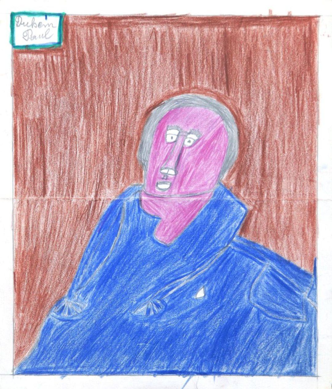 Paul Duhem, sans titre, 1991, crayons de couleur sur papier, 32 x 27,5 cm