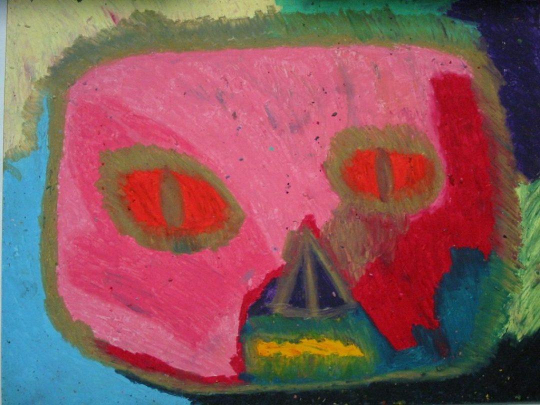 Gérard Wargnier, sans titre, nd (ca 2000), pastel à l'huile sur papier, 55 x 73 cm