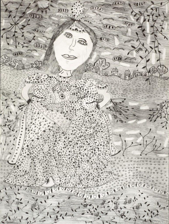 Christelle Hawkaluk, sans titre, 2009, crayon gris sur papier, 73 x 55 cm