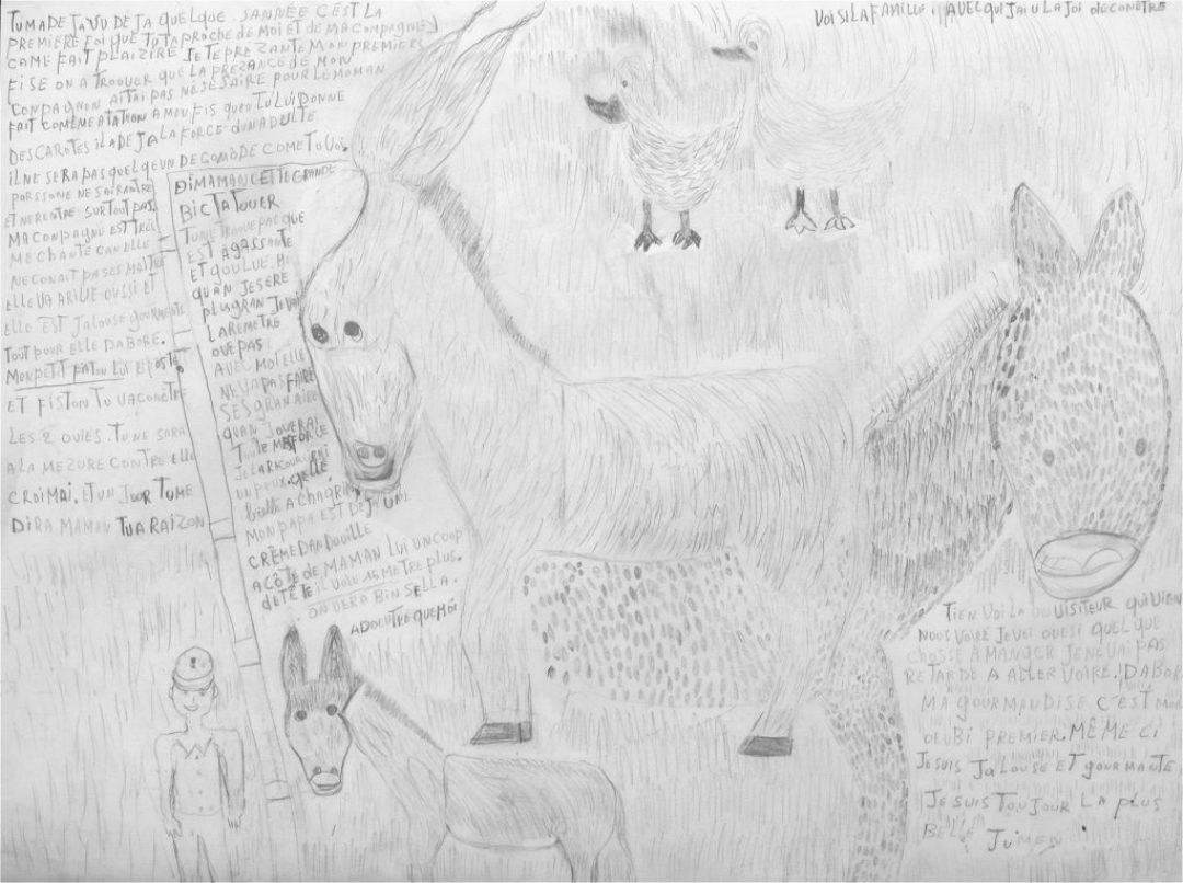 Michel Van Praet, sans titre, 2005, crayon gris sur papier, 55 x 73 cm