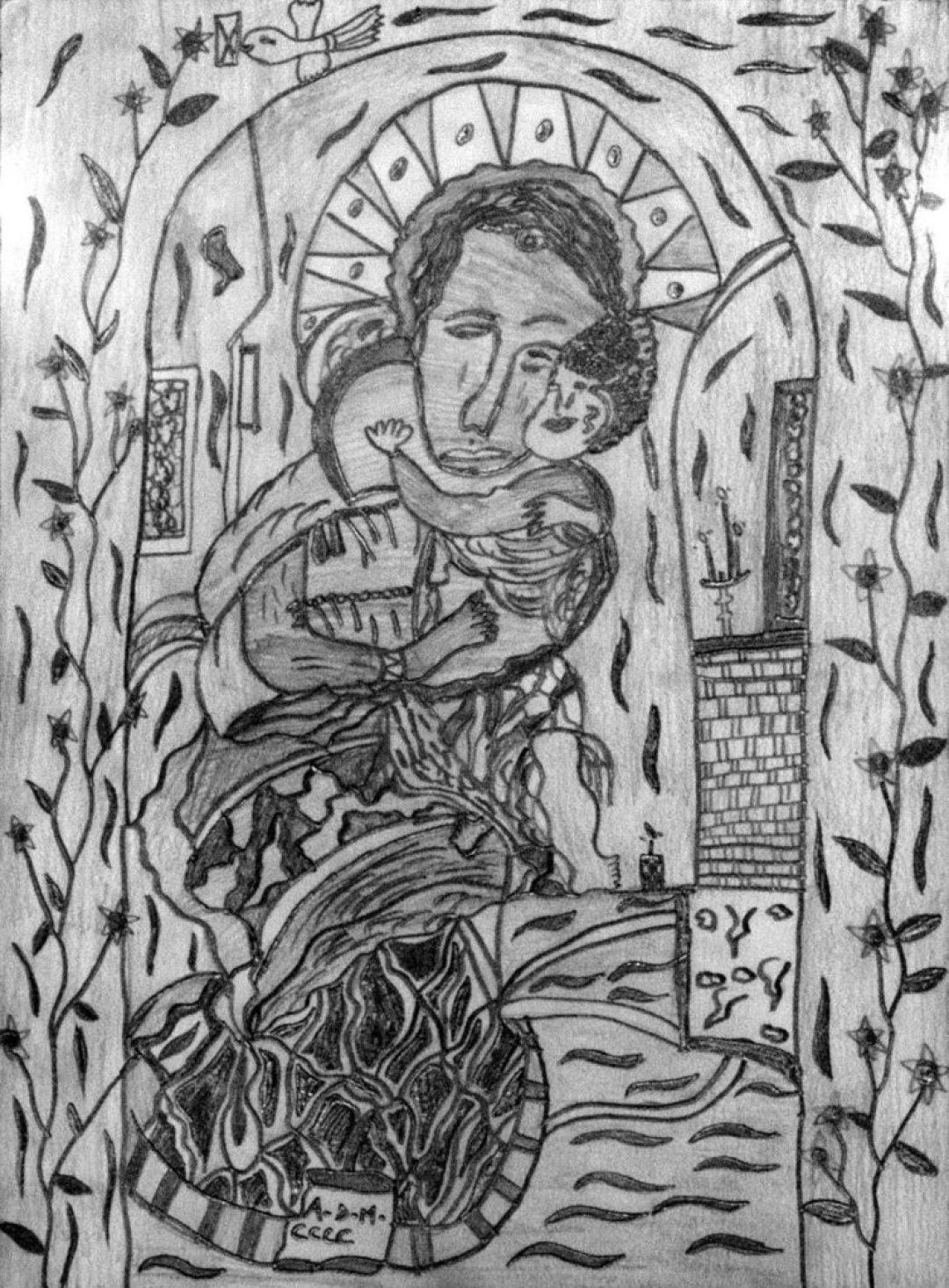 Christelle Hawkaluk, sans titre, 2009, crayon gris sur papier, 34 x 25 cm