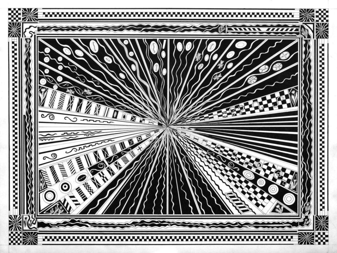 Daniel Douffet, sans titre, 2008, marqueur noir sur papier, 55 x 73 cm