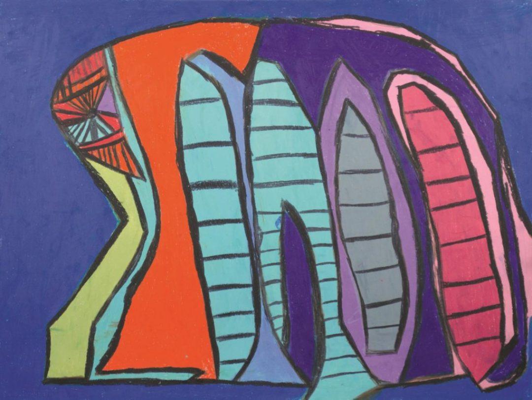 Danièle Caron, Sans titre, 2013, pastel gras sur papier, 55 x 73 cm_1