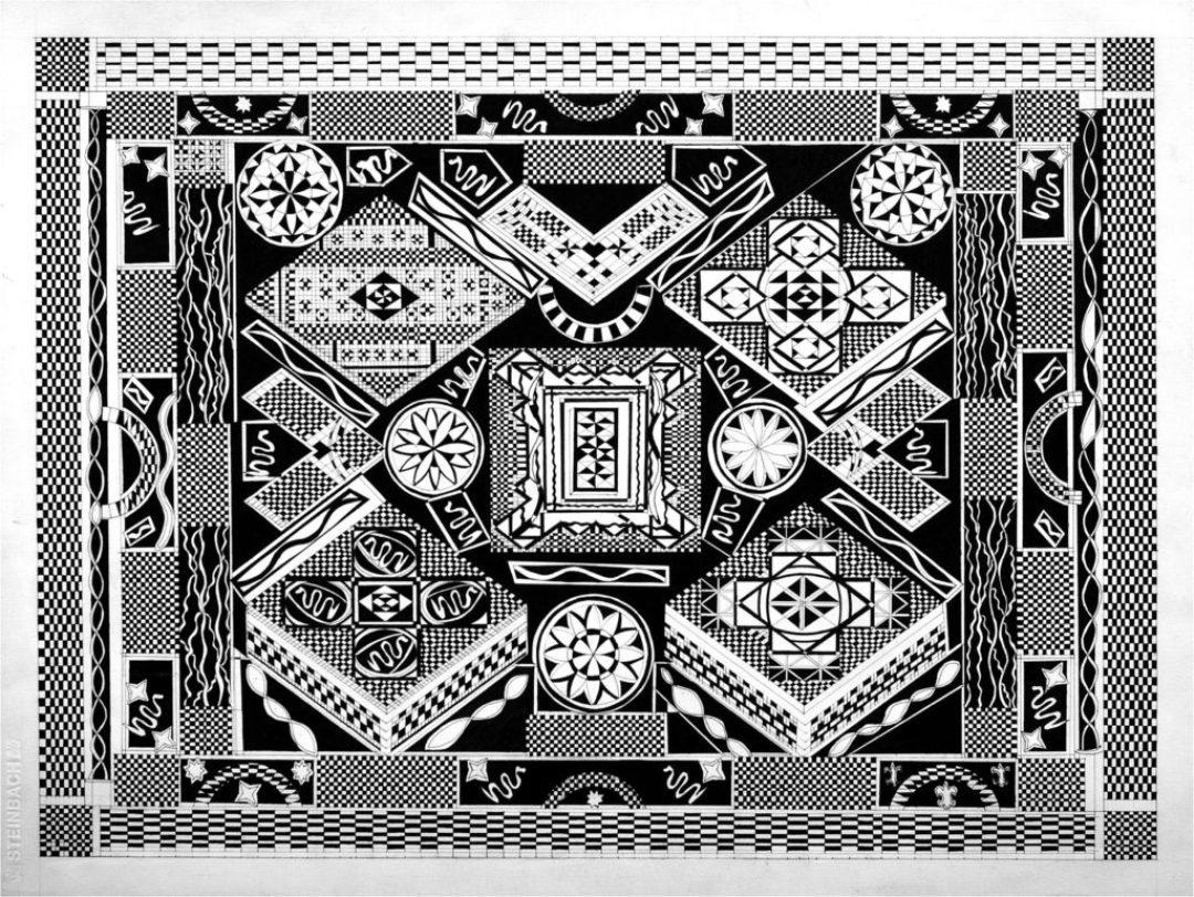 Daniel Douffet, sans titre, 2007, marqueur noir sur papier, 55 x 73 cm