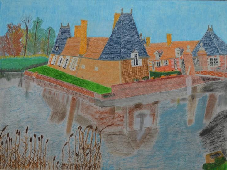 Maurice Brunswick, Sans titre, 2013, crayon de couleur sur papier, 55 x 73 cm