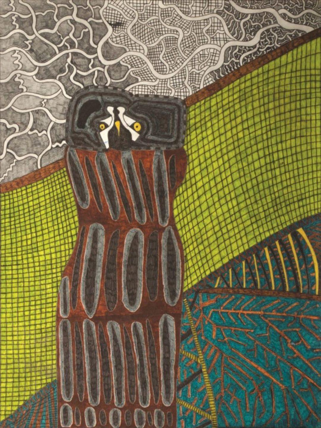 Georges Cauchy, Sans titre, 2011, marqueur sur papier, 73 x 55 cm
