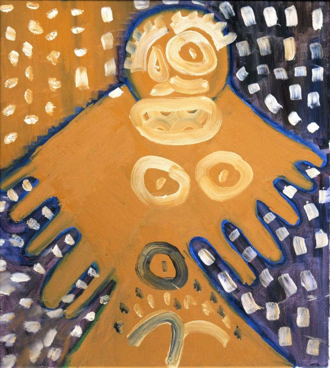 François Defontaine, Sans titre, 1998, peinture à l'huile sur toile, 95 x 92 cm
