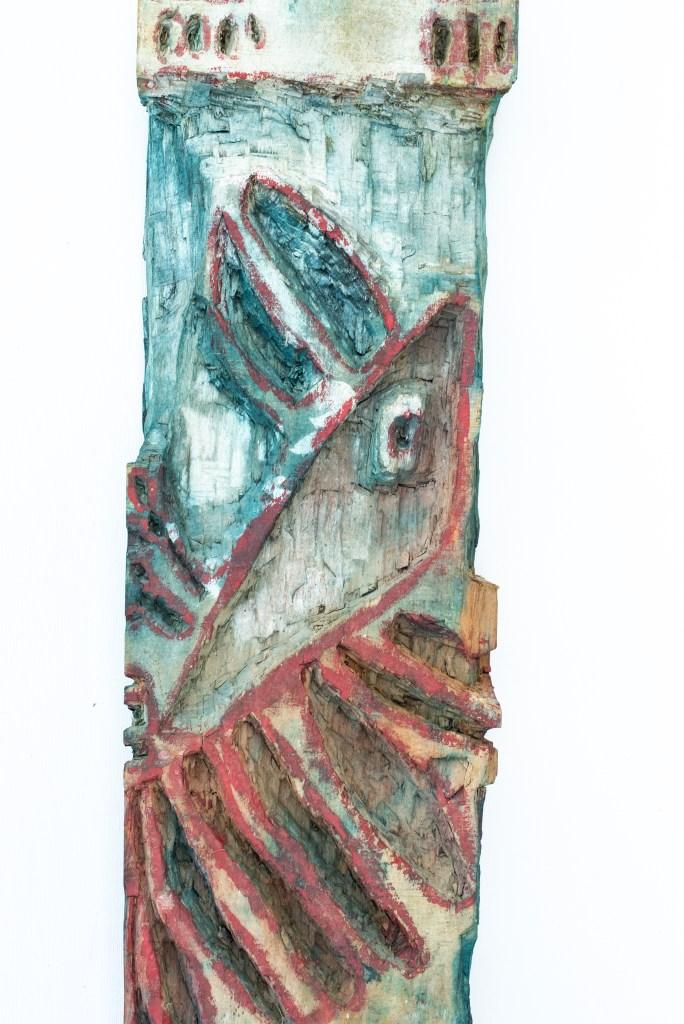 Dominique Bottemanne, sculpture , bas-relief haut. 281cm x 23cm, détail 2