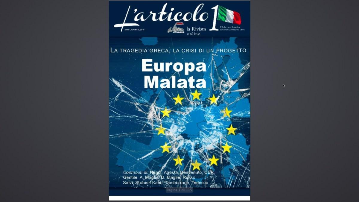 """NASCE """"L'ARTICOLO 1"""" LA RIVISTA ONLINE DELLA FONDAZIONE NENNI"""
