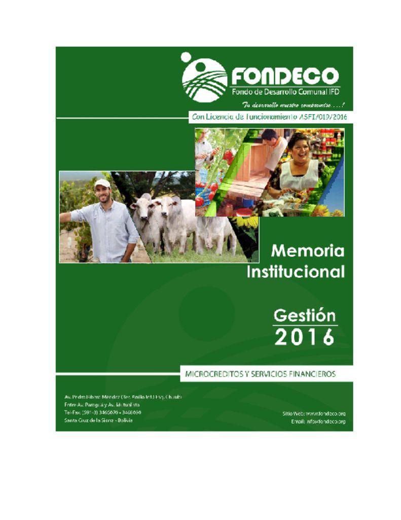 thumbnail of Memoria 2016 FONDECO IFD