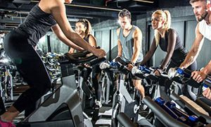 fitness centre spinning class