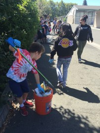 Clean-up around the Napa Boys and Girls Clubhouse neighborhood