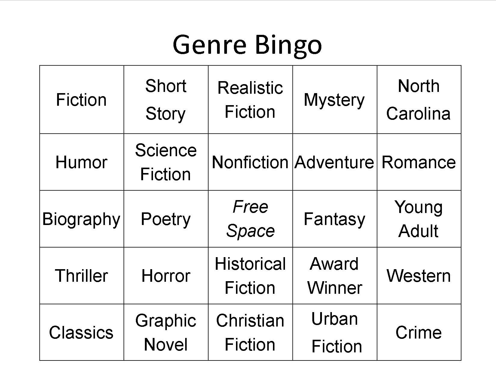 Genre Worksheet Times