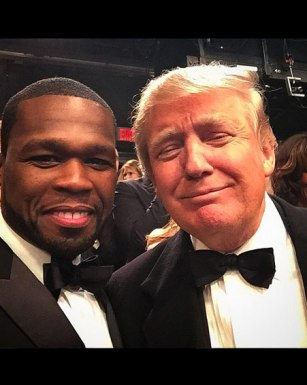 Republican Party Presidential Candidate Donald Trump with 50 Cent