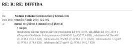 C - 15lug2016 - invio da Stefano Fontana dell integrazione alla risposta e delle registrazioni delle telefonate effettuate da Manuel Ros nel 2008 e 2009