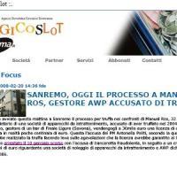 Manuel Ros il 20 Febbraio 2008 processato per truffa, vittima Mauro Gualco - Tribunale di Sanremo