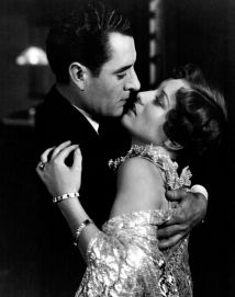 Publicity photo of John Gilbert and Joan Crawford in Four Walls, 1928