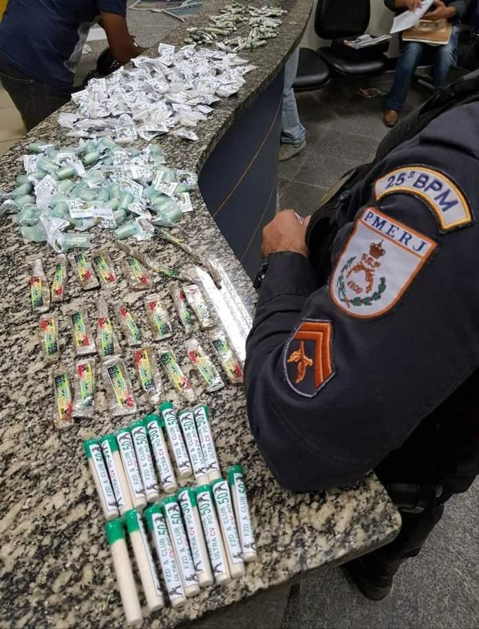 Carga de droga é apreendida após tiroteio em Araruama