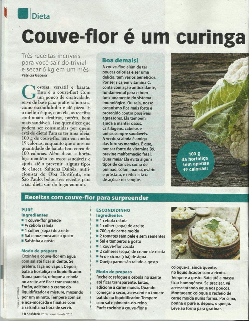 Ana Maria Couve flor 796x1024 - 10 Alimentos que Ajudam a Emagrecer com Qualidade!