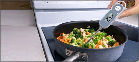 termômetro - Boas práticas de manipulação de alimentos em casa