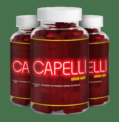 Capelli Hair Evite Queda de cabelo Feminino Potes e frascos
