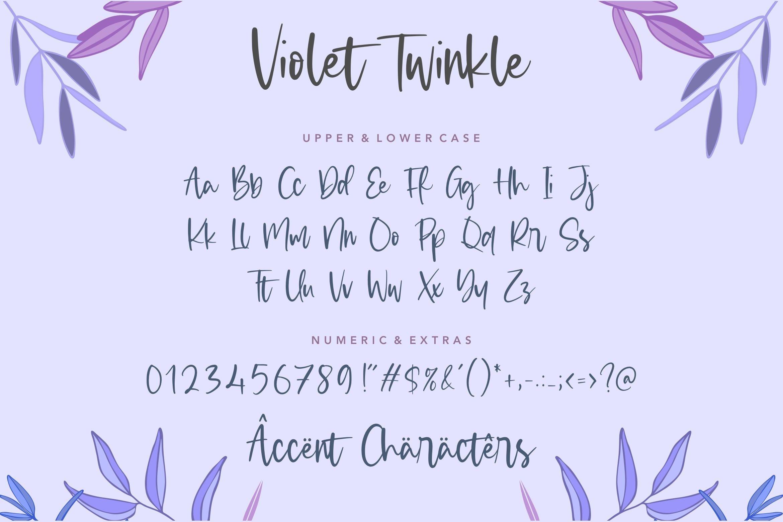 Violet Twinkle 6