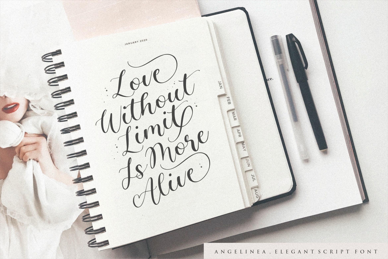 Angelinea Elegant Calligraphy Font2
