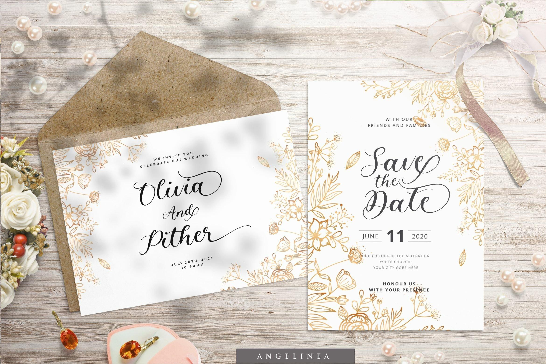 Angelinea Elegant Calligraphy Font5