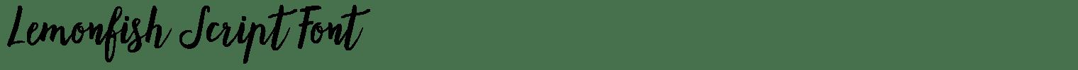 Lemonfish Script