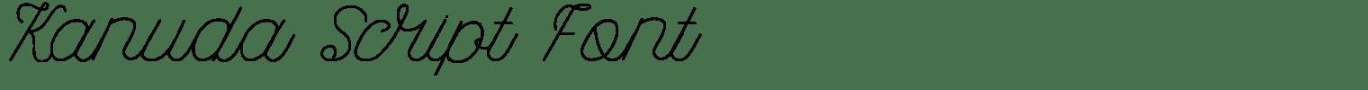 Kanuda Script
