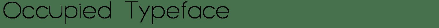 Occupied Typeface