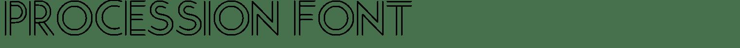 Procession Font