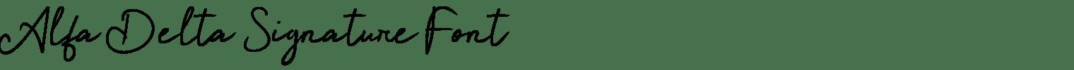 Alfa Delta Signature