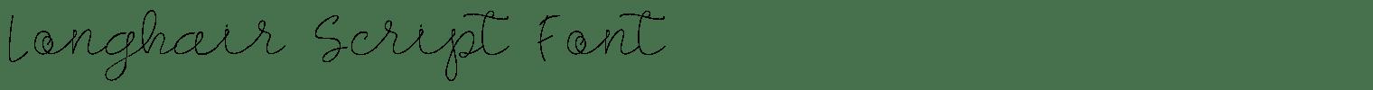 Longhair Script