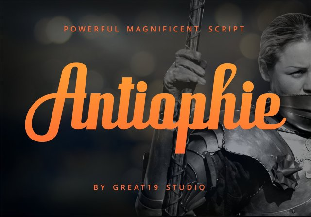 Antiophie Typeface