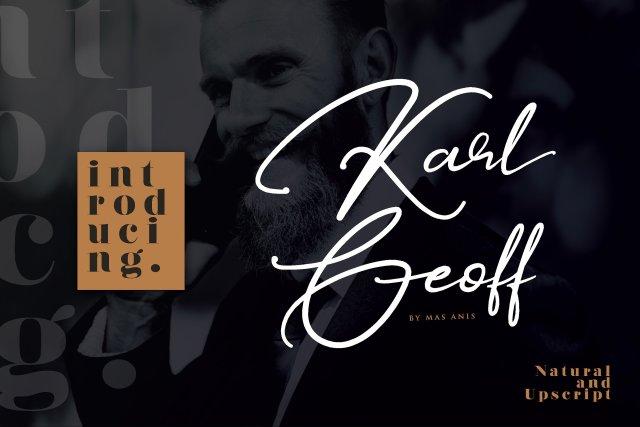 Karl Geoff Handwritten