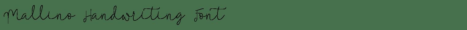 Mallino Handwriting