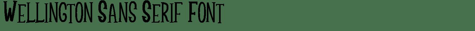 Wellington Sans Serif