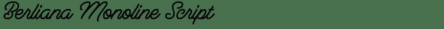 Berliana Monoline Script