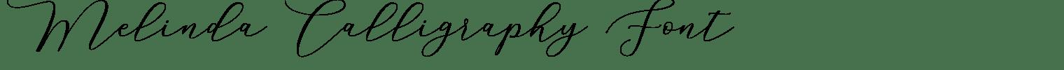 Melinda Calligraphy
