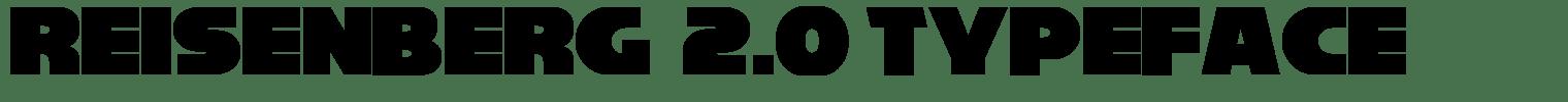 Reisenberg  2.0 Typeface