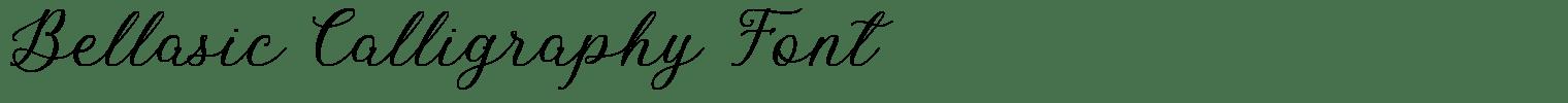 Bellasic Calligraphy Font