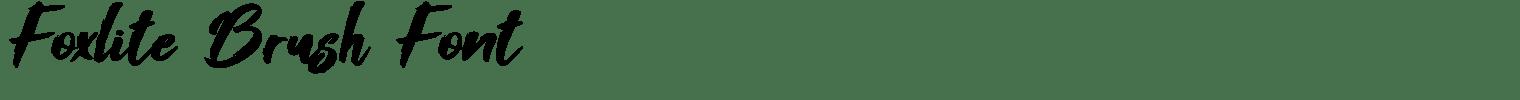 Foxlite Brush Font