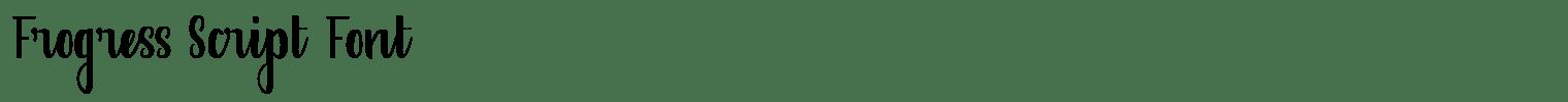Frogress Script Font