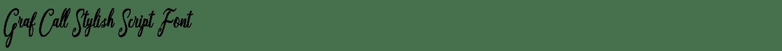 Graf Call Stylish Script Font