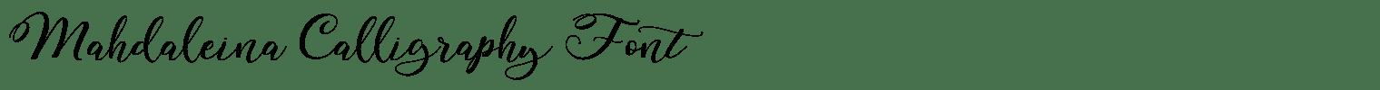 Mahdaleina Calligraphy Font