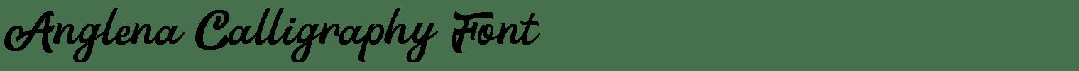 Anglena Calligraphy Font